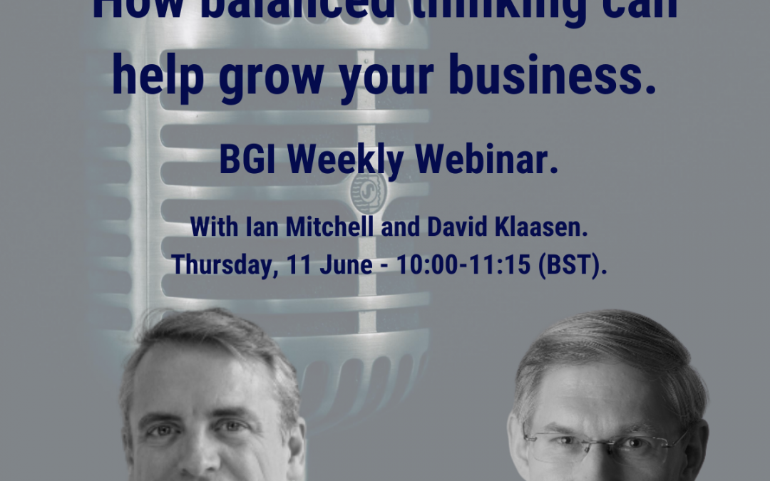 BGI Weekly Webinar on Balanced Thinking
